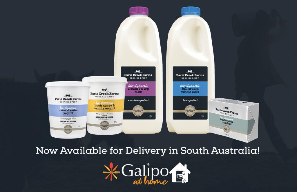 paris creek farms dairy products including bio-dynamic organic milk, yogurt and butter