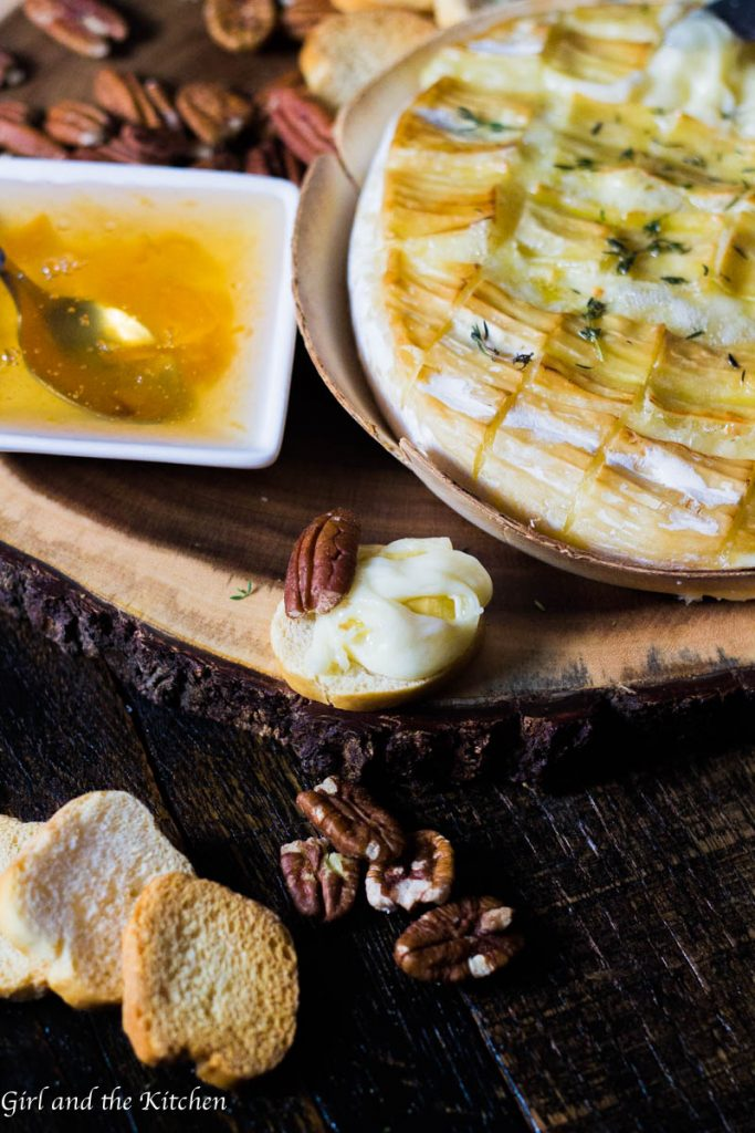 Garlic, Thyme and Truffle Baked Brie