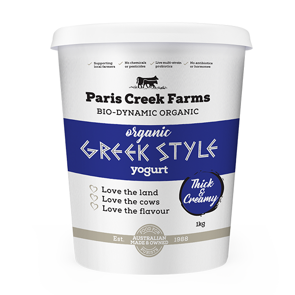 Organic Natural Greek Style Yoghurt