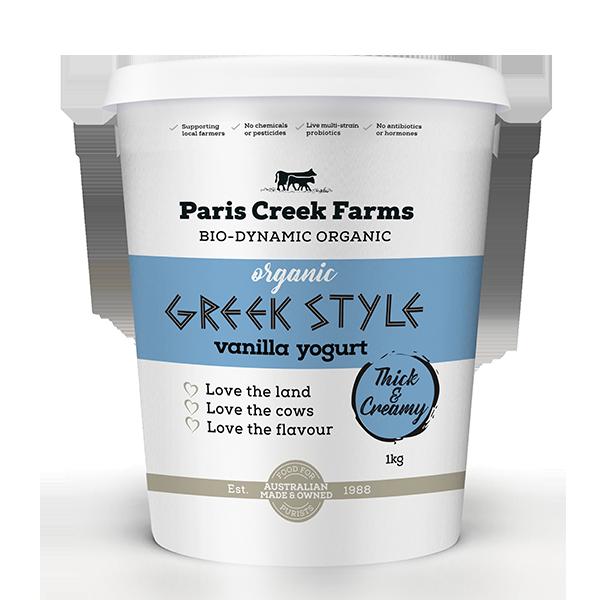 Organic Vanilla Greek style yoghurt product image
