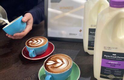 Pave Cafe coffee's next to Paris Creek Milk