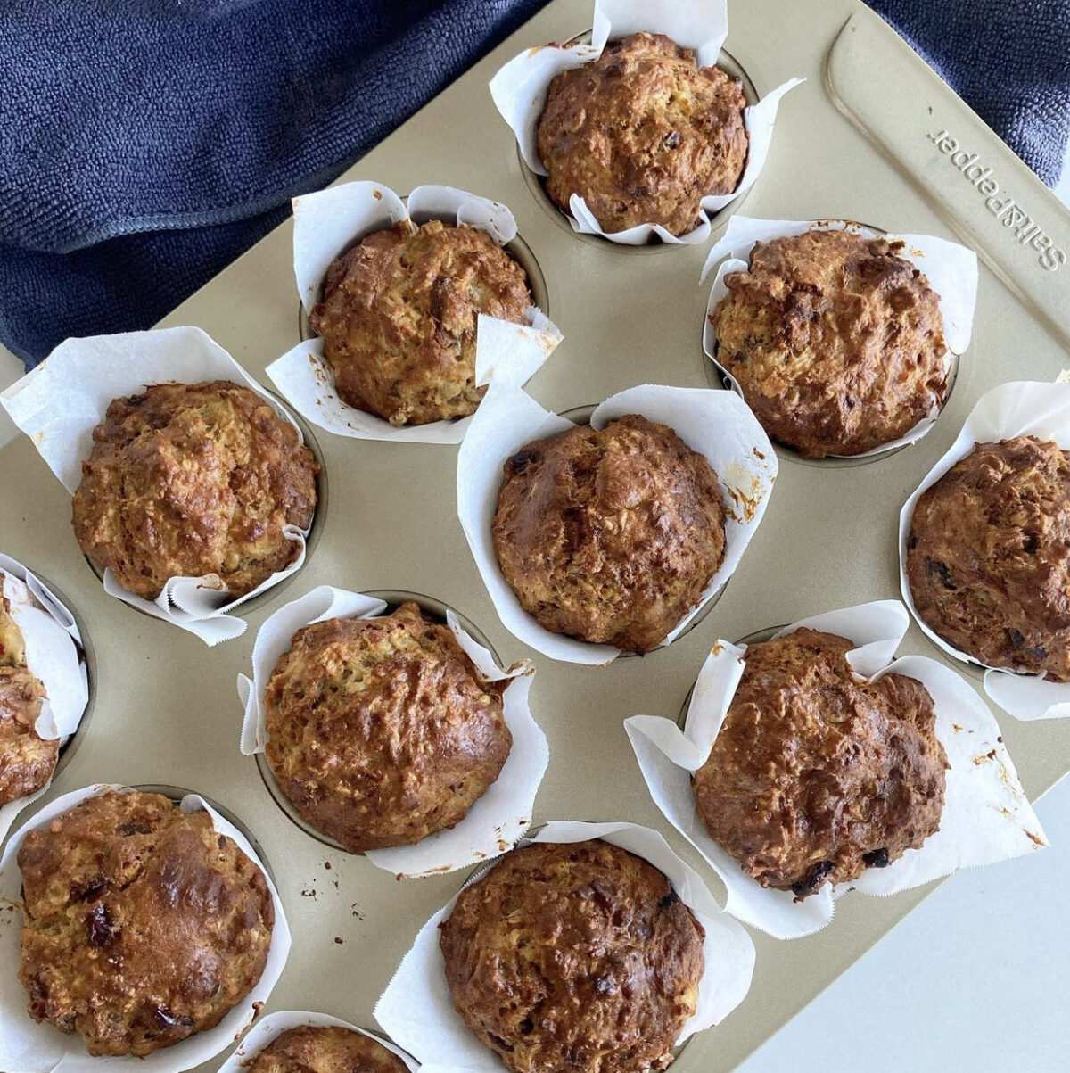 Picture of baked quark breakfast muffins